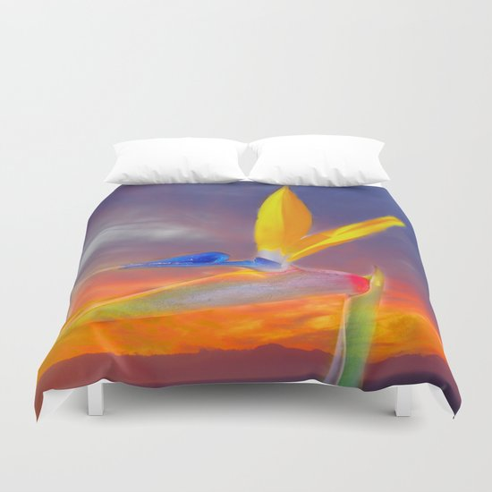 Sunset Flow Duvet Cover
