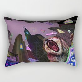 Hong Kong Lion Rectangular Pillow
