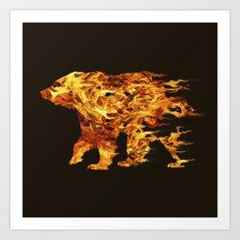 Fire Bear Art Print