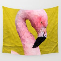 flamingo Wall Tapestries featuring Flamingo by Esco