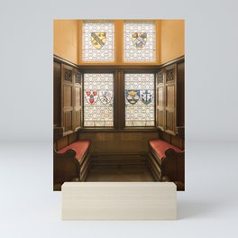 Edinburgh castle stained glass windows Scotland Mini Art Print
