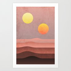 tatooine sunset Art Print