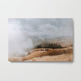 Fog and Clouds on Mount Tamalpais Metal Print