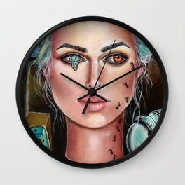Memories of Dali Fantasy Surrealism by Laurie Leigh Wall Clock