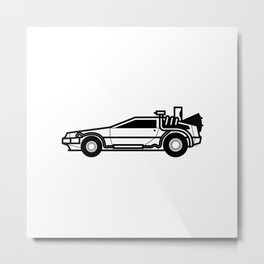 DeLorean Time Machine Metal Print