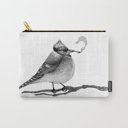 Blue Jay Smoking A Jay Carry-All Pouch