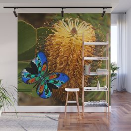 Butterfly on Banksia Wall Mural