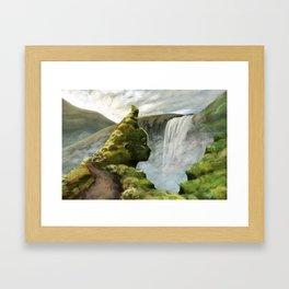 Waterfall Guardian Framed Art Print