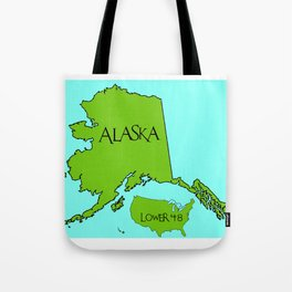 Alaska and the Lower 48 Forty-eight Tote Bag