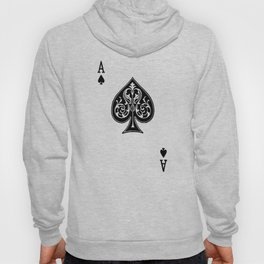 Ace Spades Spade Playing Card Game Minimalist Design Hoody