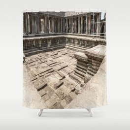 Angkor Wat Pool, Cambodia Shower Curtain