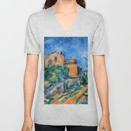 "Paul Cezanne ""Maison Maria with a View of Chateau Noir"" Unisex V-Neck"