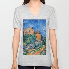 """Paul Cezanne """"Maison Maria with a View of Chateau Noir"""" Unisex V-Neck"""