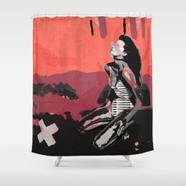 "Elle, ""the body"" Shower Curtain"