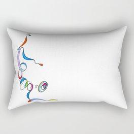Yoga Scribble - Balance Rectangular Pillow