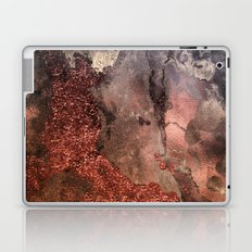 Copper Glitter Stone and Ink Abstract Gem Glamour Marble Laptop & iPad Skin