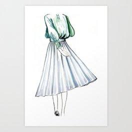 Swishy Skirt Art Print