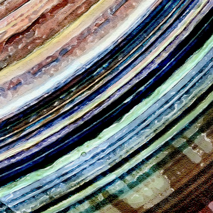 Abstract Textural Rings Leggings