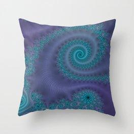 Purple Puffy Paint - Fractal Art Throw Pillow