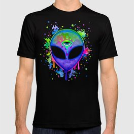 Alien Melt - purple T-shirt