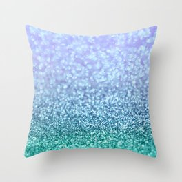 Winter Over Ocean  Throw Pillow