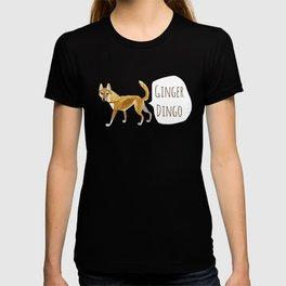 Ginger dingo pattern T-shirt