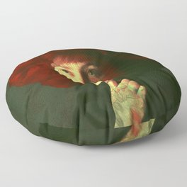 The red hat Floor Pillow