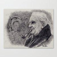 tolkien Canvas Prints featuring Tolkien by Nicole Bonita Miller