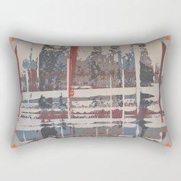 Waterlogged - orange triangle Rectangular Pillow