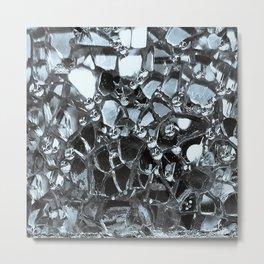 Dark Mirror and Glass Metal Print