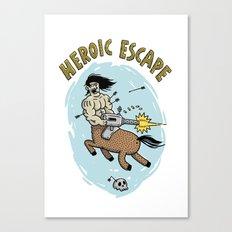 Heroic Escape Canvas Print
