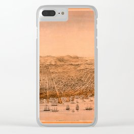 Map Of San Francisco 1868 Clear iPhone Case