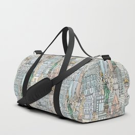 New York watercolor Duffle Bag