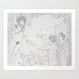 The Hanging of the Wolf In Sheep's Clothing Art Print