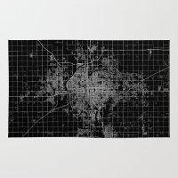 kansas Area & Throw Rugs featuring Wichita map Kansas by Line Line Lines