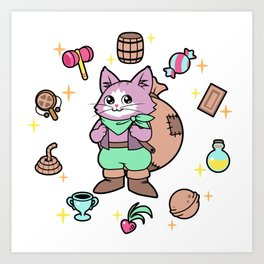 I've got the purrfect item for you! Art Print