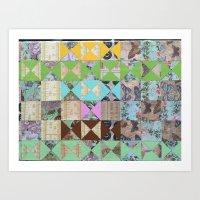 Paper Quilt and Paint Art Print