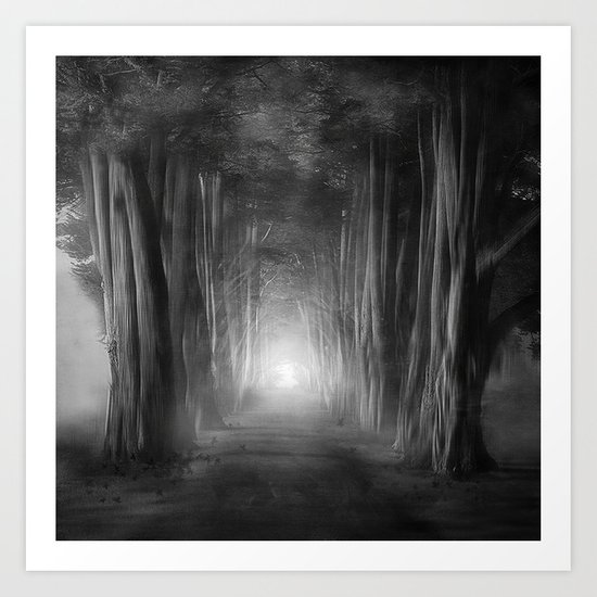 Black and White - Dreams come true Art Print