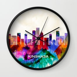 Kinshasa Skyline Wall Clock