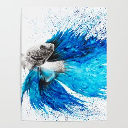 Phthalo Fish Tail Poster