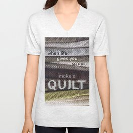Quilters Unisex V-Neck