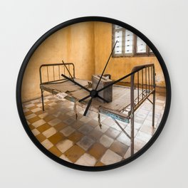 S21 Building B Cell II - Khmer Rouge, Cambodia Wall Clock