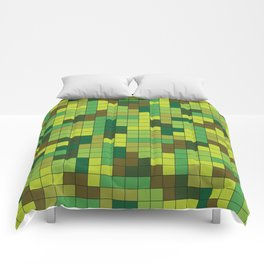 Tetris Camouflage Forest Comforters