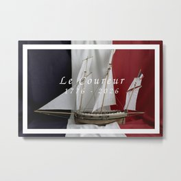 Le Coureur, 250 years Metal Print