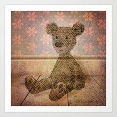 Barely Bear - A Vintage Teddy Art Print