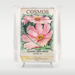 Cosmos Seed Packet Shower Curtain