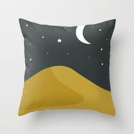 Starry Desert Throw Pillow