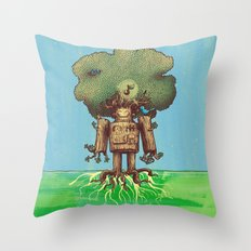 Re-Growth Throw Pillow