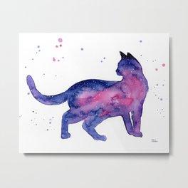 Cat in Space Metal Print
