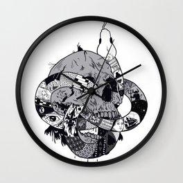 The serpent skull Wall Clock